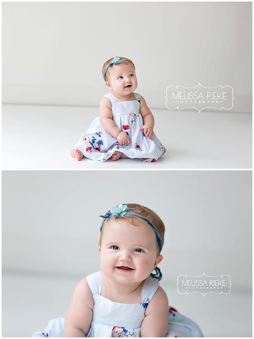 Kansas City Baby Photos blue dress