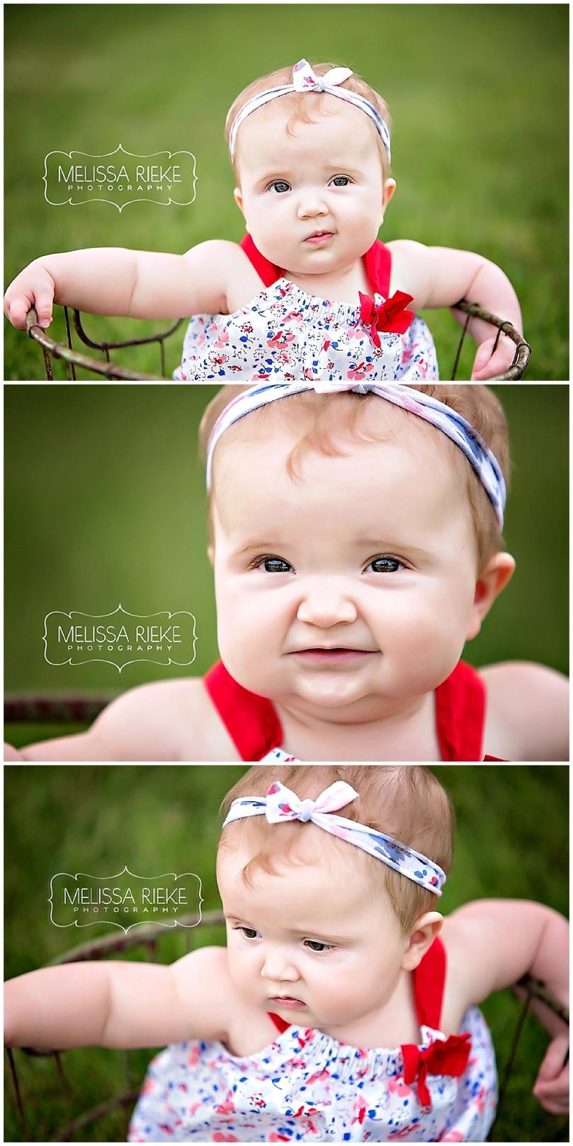 Kansas City Baby Photos green grass basket prop