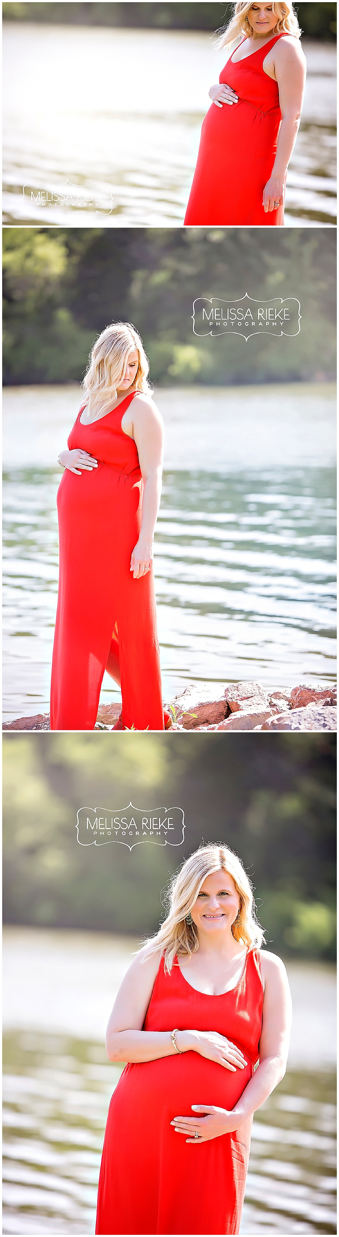 Kansas City Maternity Photos | Red Dress | Lake Maternity