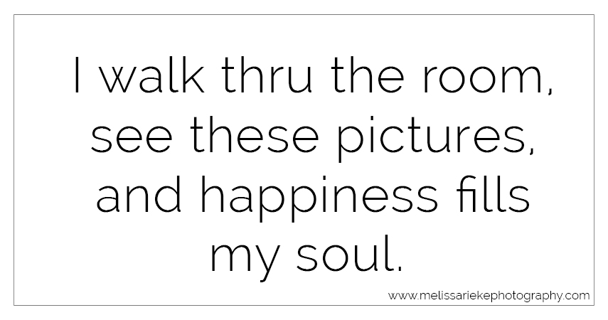 Happiness Quote | Wall Portraits | Framed Wall Art | Melissa Rieke Photography