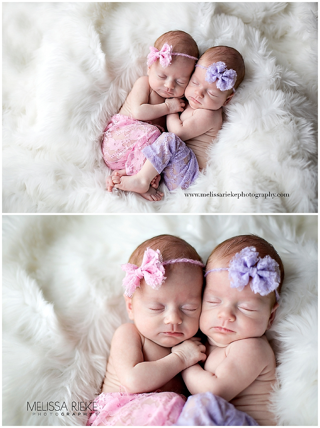 Twin newborn baby girl photos kansas city melissa rieke photography