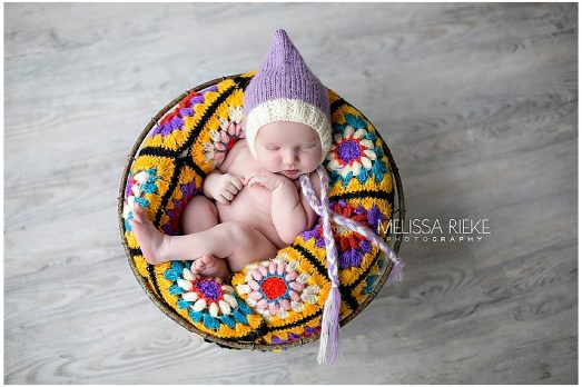Granny Square Quilt Newborn Props by Melissa Rieke Photography