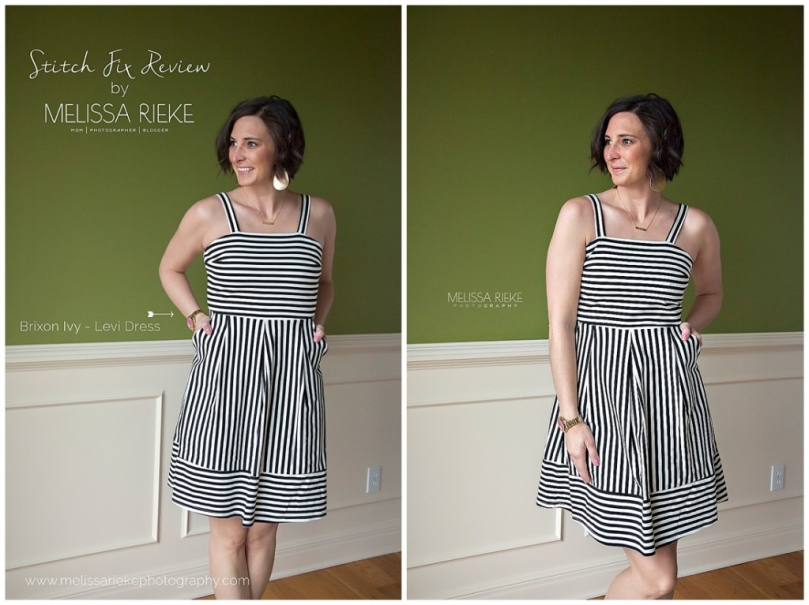 Stitch Fix Outfit Review Black White Striped Spring Subscription Box