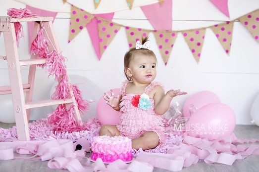 Pink First Birthday Photos Kansas City