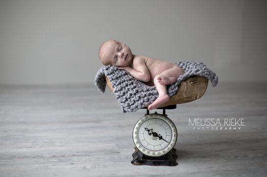 Gray Scale Newborn Prop kansas City Photos