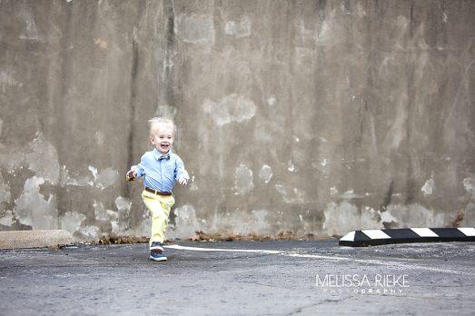 Little Boy Yellow Pants Outdoor City Photos