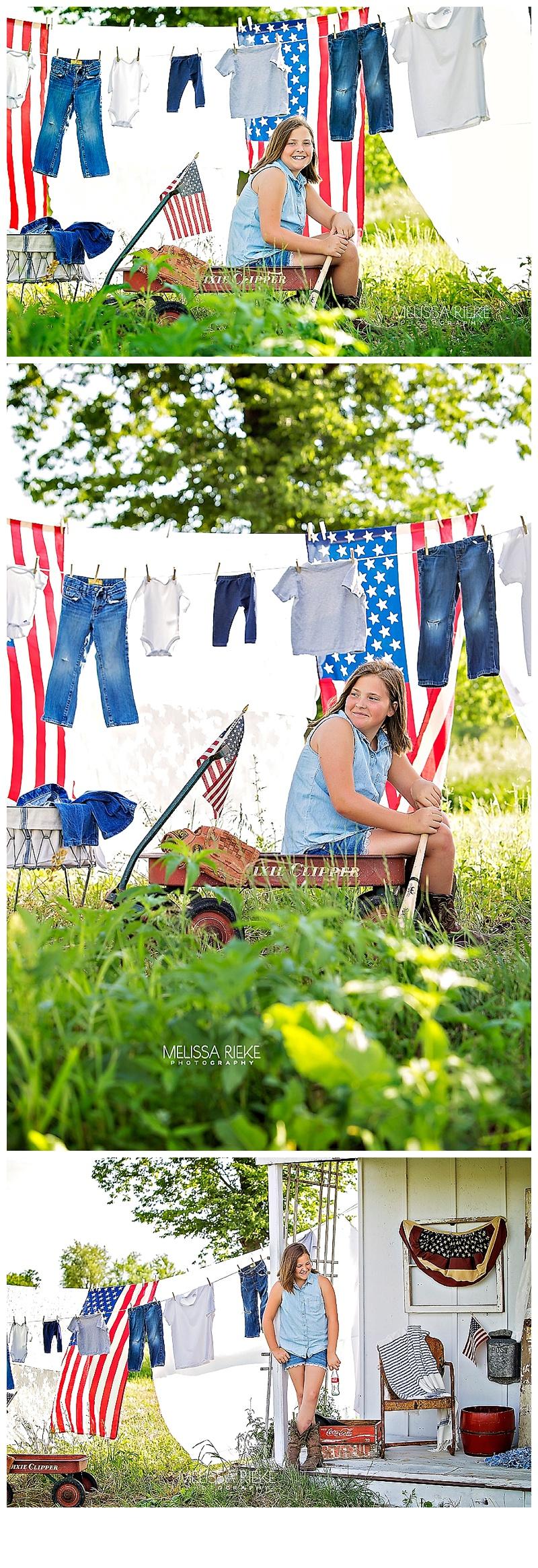 Americana Photoshoot Flag 4th of July Mini Sessions