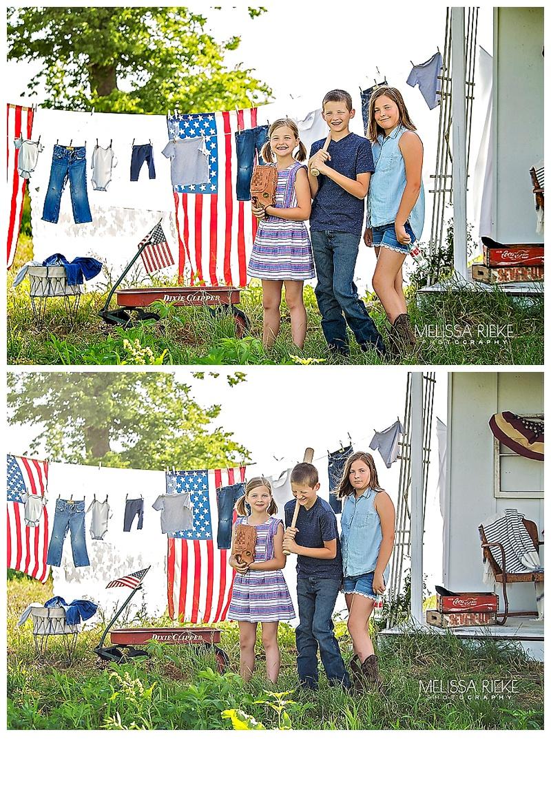 Americana Photoshoot July 4th Minis Sessions Kansas City