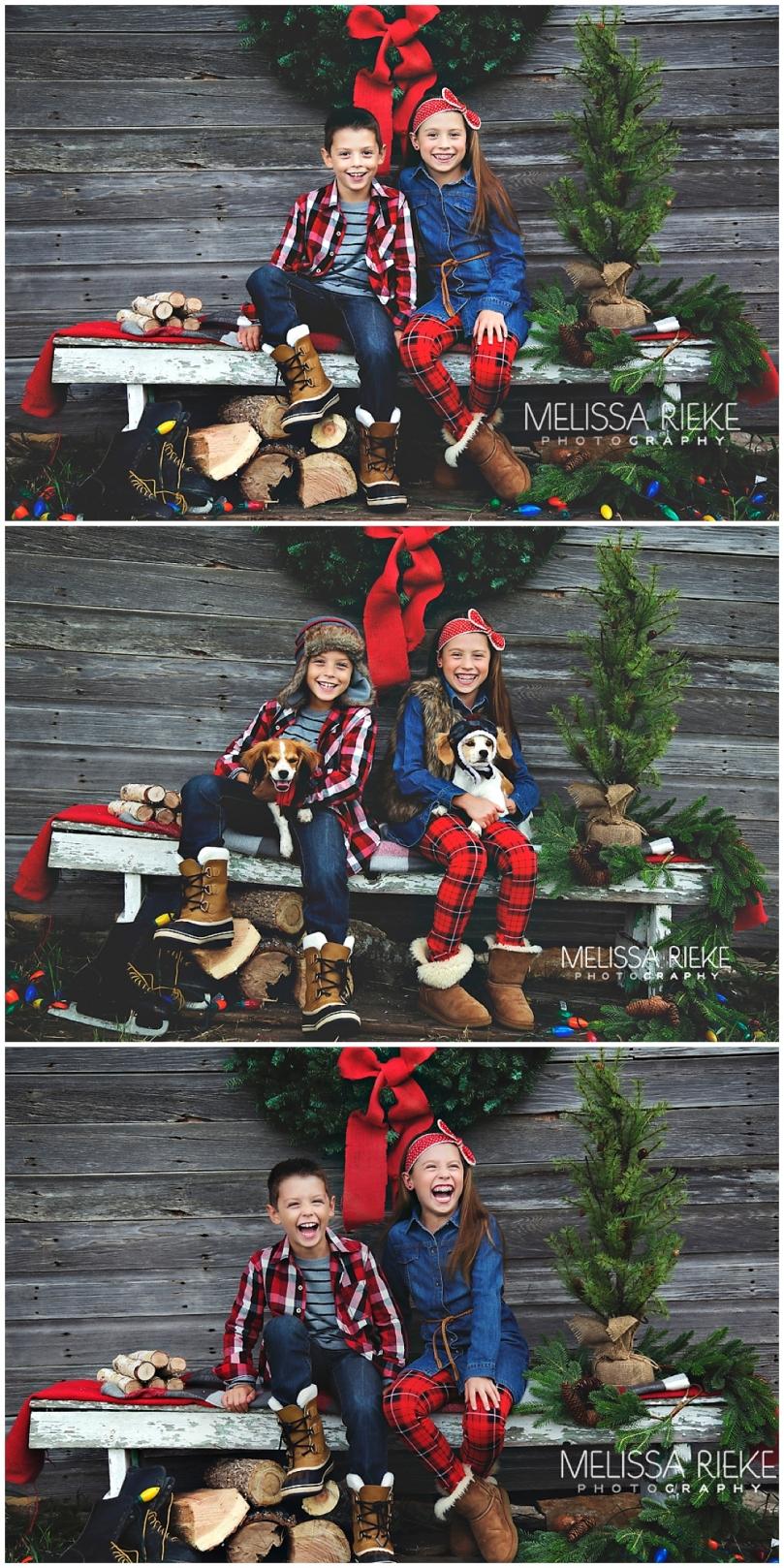 Holiday Hoopla Christmas Plaid Minis Boots Flannel Kansas City Photographer