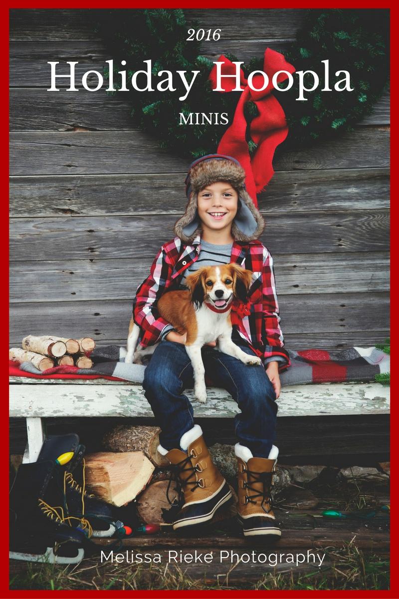 Plaid Christmas Holiday Hoopla Mini Sessions Kansas City