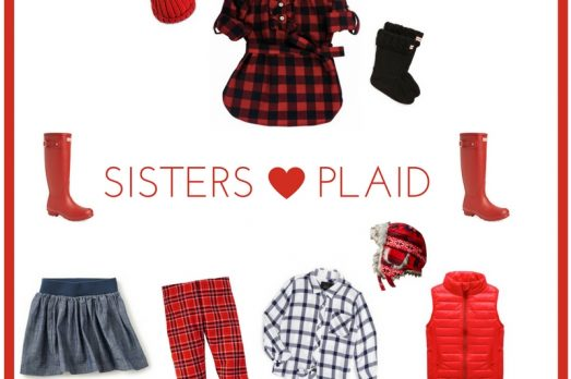 What to Wear Plaid Red Christmas Sisters Portraits