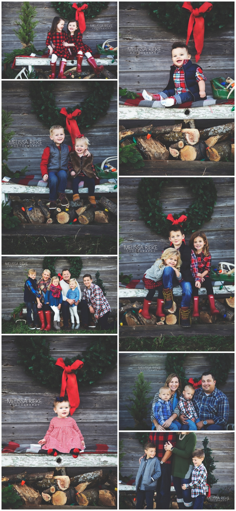 Christmas Card Pictures in Kansas City with Melissa Rieke Photography