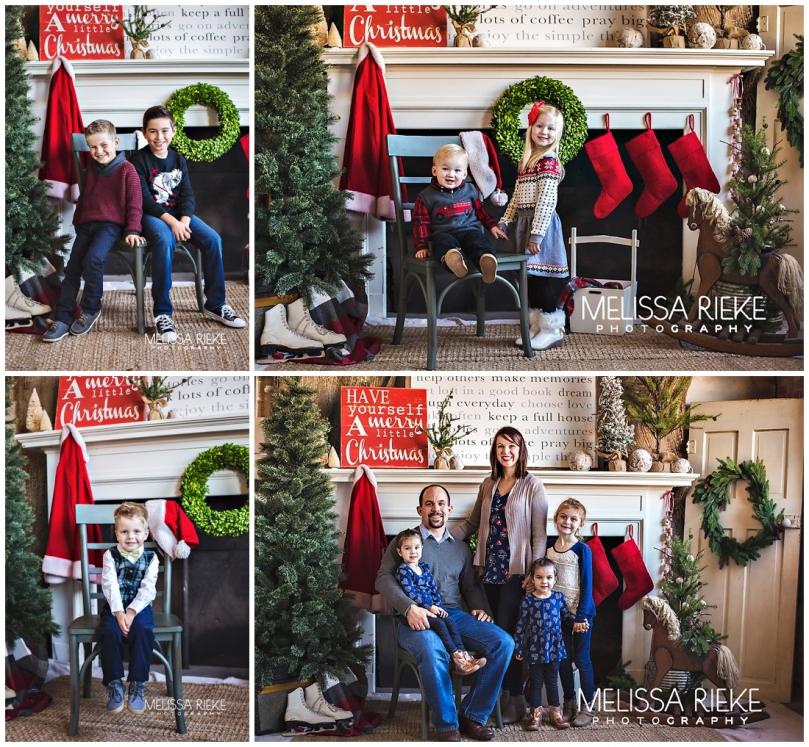 Styled Christmas Set Kansas City Photographer