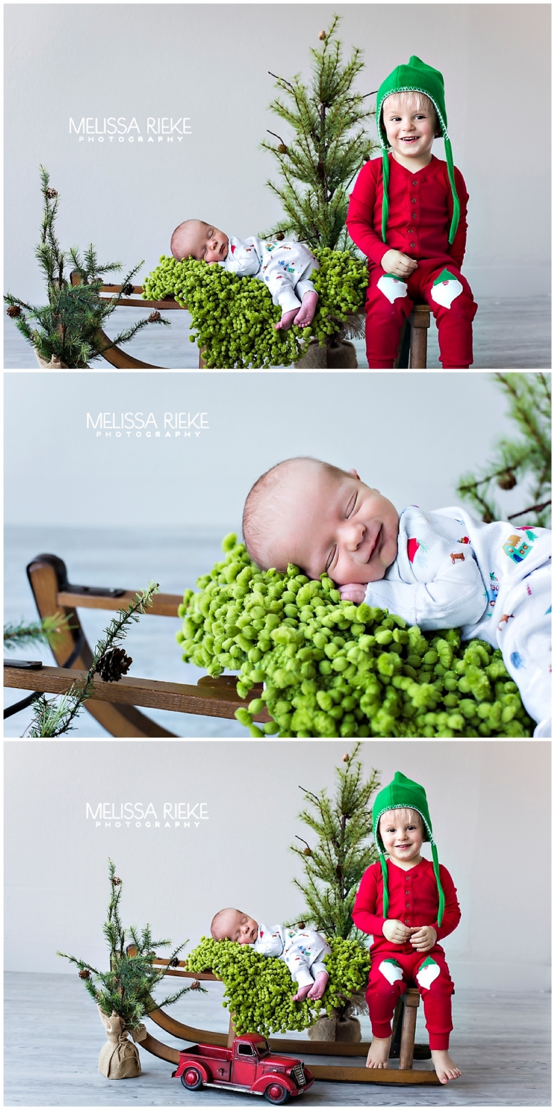 Hanna Andersson Holiday Jammies | Christmas Newborn Pictures | Christmas Pajamas | #HannaJams 2016 | Melissa Rieke Photography