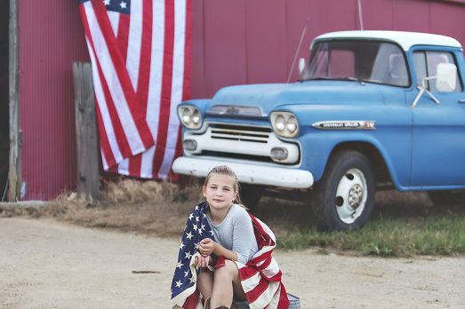 4th of July Mini Sessions Vintage Chevy Truck American Flag