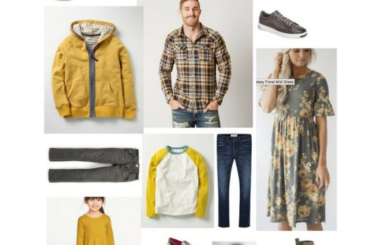 Casual Mustard Family What To Wear Kansas City Pictures