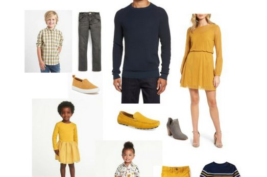 Mustard Navy Family Pictures Fall Portraits