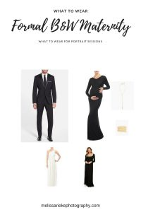 Formal Black and White Maternity Pictures What To Wear Portraits Dressy s