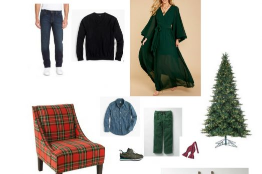 Christmas Pictures Green and Plaid Traditional Portraits Outfit ideas
