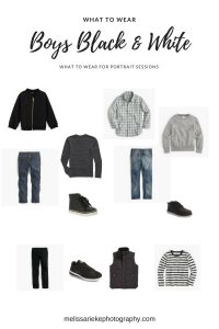 Boys Pictures Black and White Outfits what To wear portraits fall grays