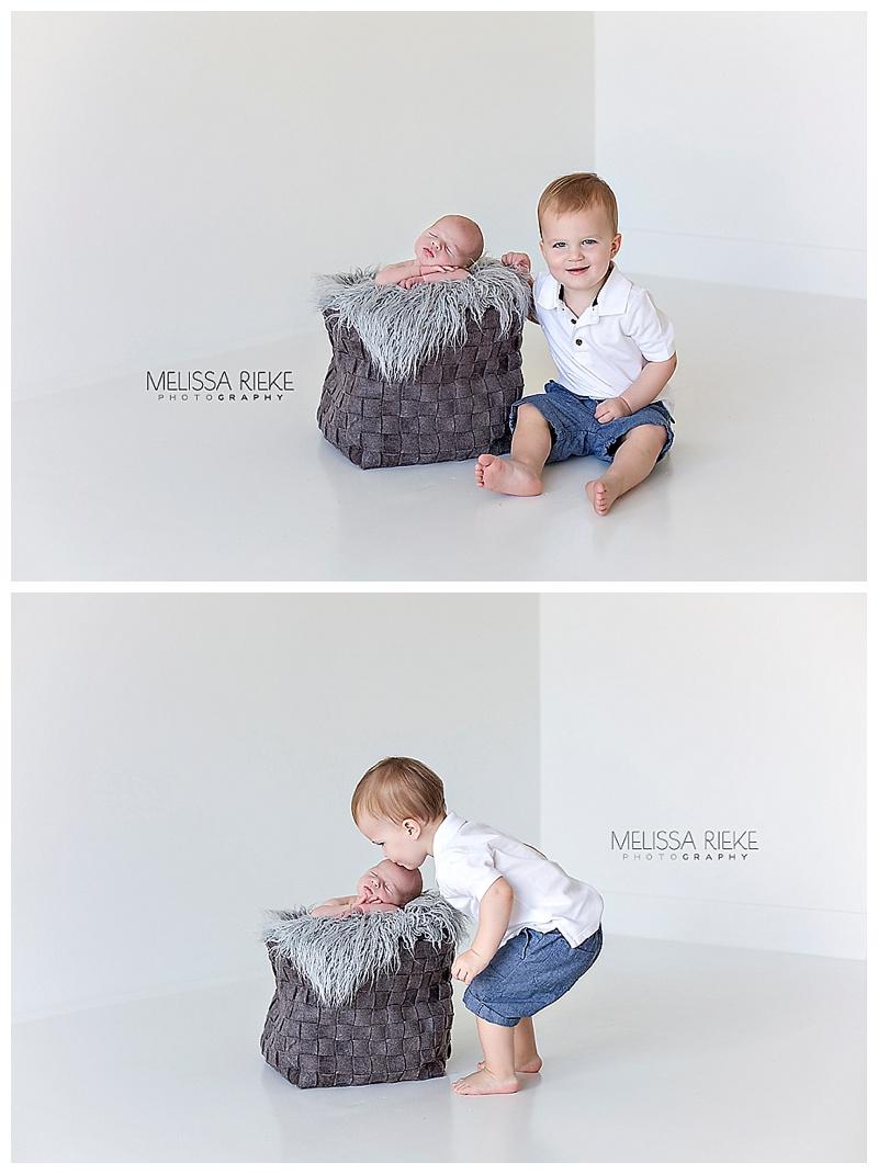 Brothers Newborn Baby Boy Pictures Kansas City