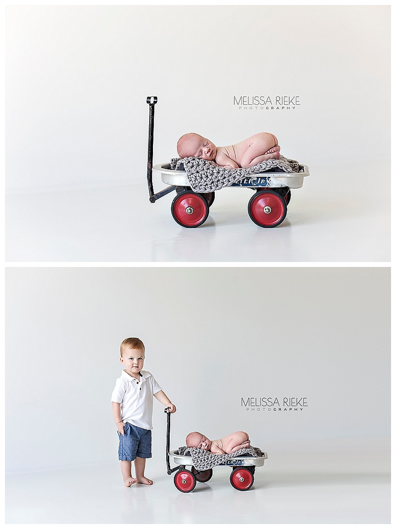 Newborn Baby Boy Pictures Kansas City Portraits Props Brothers