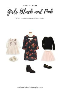 Sisters Black & Pink Outfits what to wear Kansas City pictures
