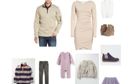 Family Pictures In Purple What to wear Portraits photos