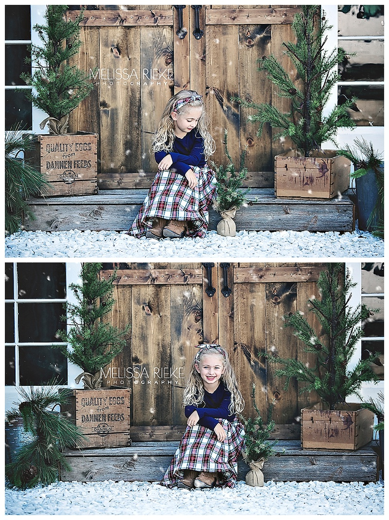 Christmas Card Picture Set Kansas Portraits Mini Sessions