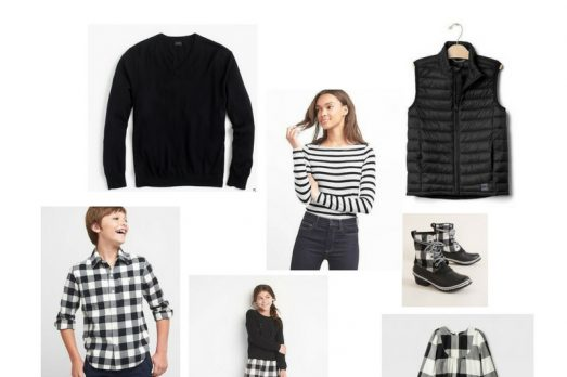 Buffalo Plaid Black & White Family What to Wear Looks Style Christmas Pictures
