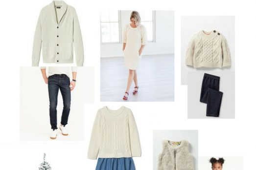 Wearing Cream for Pictures Portrait Outfits