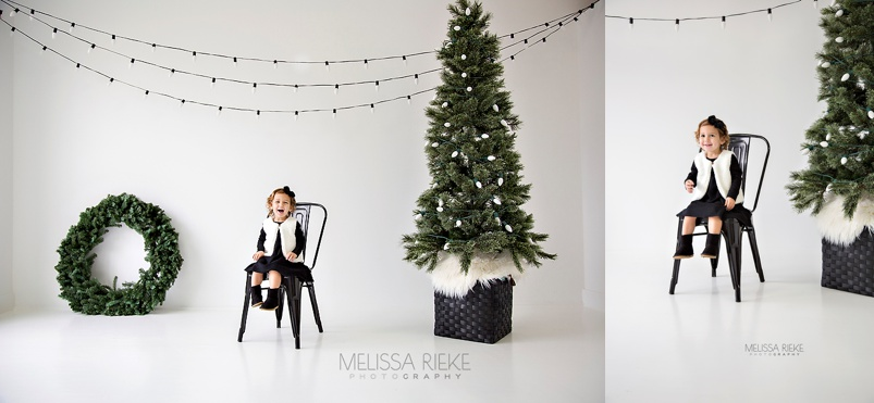 Modern Holiday Christmas Card Pictures Mini Session Studio Kansas City