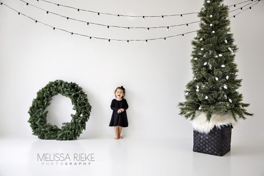 Christmas Mini Sessions Modern Holiday Christmas Card Pictures Kansas City Children Photographer