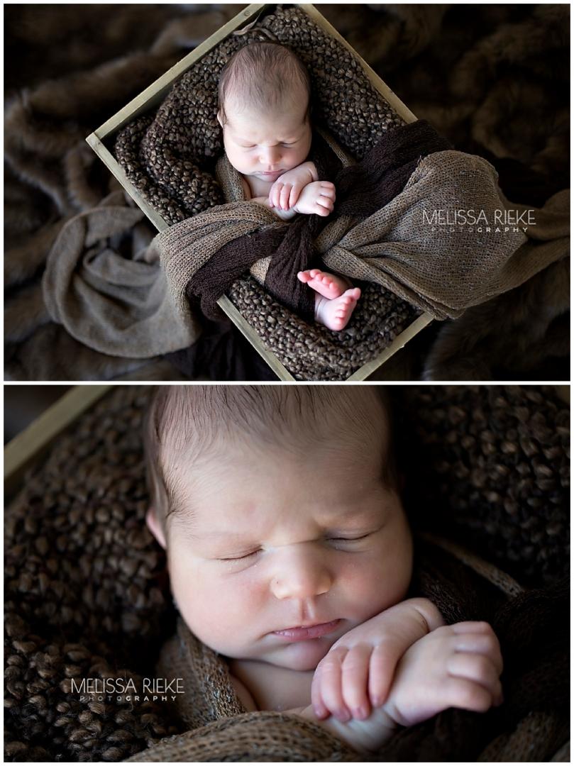 Photos of Baby Boy Drew Wrapped Newborn Poses Kansas