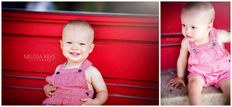 Red Soda One Year Old Birthday Boy Photos Smiles Kansas Photographer