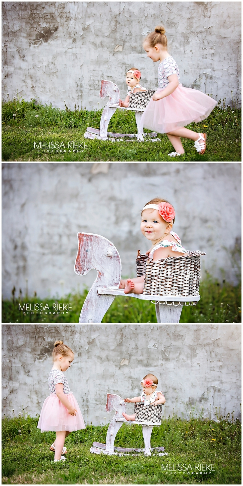 Sitting Up baby girl pictures in Kansas City Area Photographer Photography