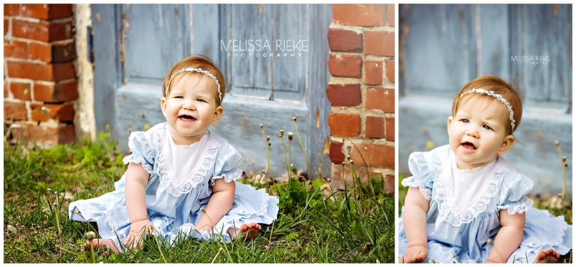 Vintage Baby baby girl pictures Sitting Up Moms Dress Kansas City