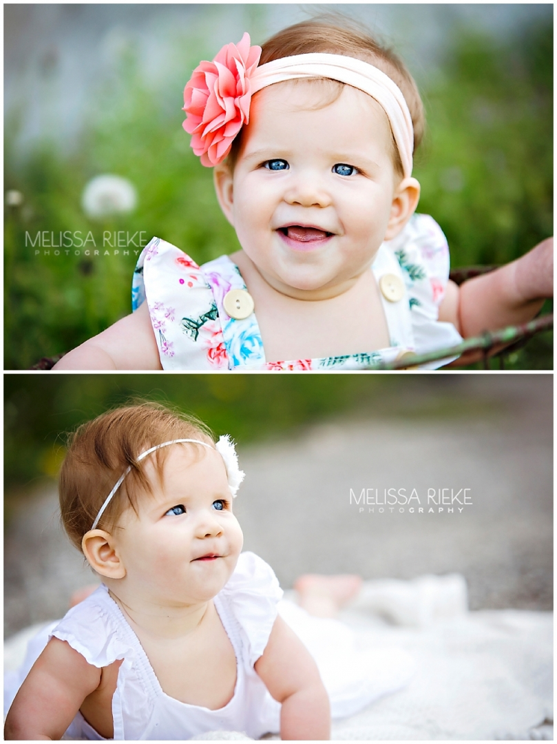 6 month old baby girl pictures Kanas City Photographer