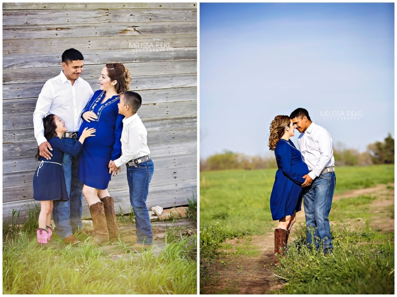 Outdoor Farm Maternity Session Kansas City Pictures Family Belly Bump