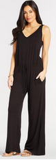Evereve Jumpsuit Tall Girl Romper Black Comfy Summer
