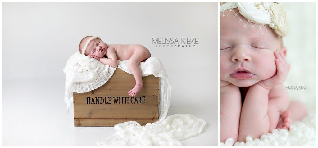 Simple Newborn Photography Props Kansas City Photographer Details Baby Posing Box
