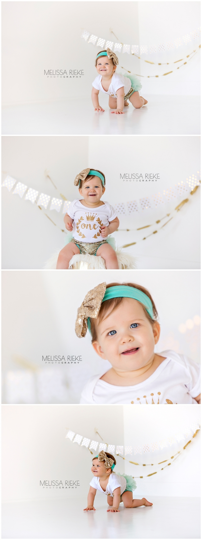 No Cake Baby Girl First Birthday Pictures Kansas Photographer