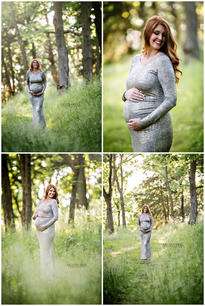 Maternity Photography Kansas City Floral Gown Baby Belly Pictures Photographer
