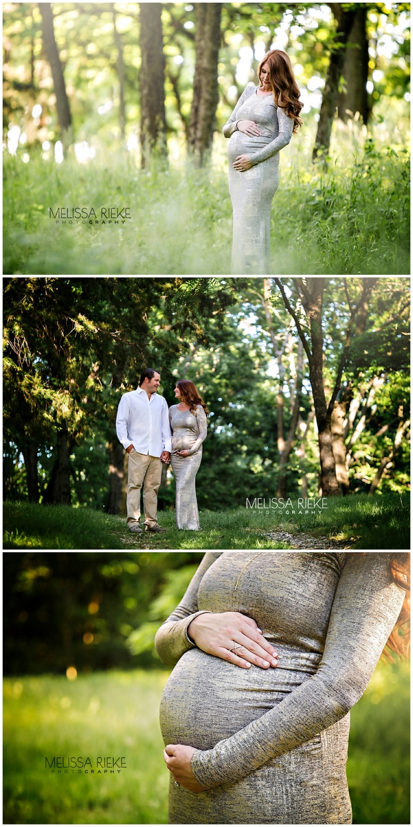 Maternity Photography Kansas City Floral Gown Baby Bump Pictures Forest Greenspace Dreamy Session
