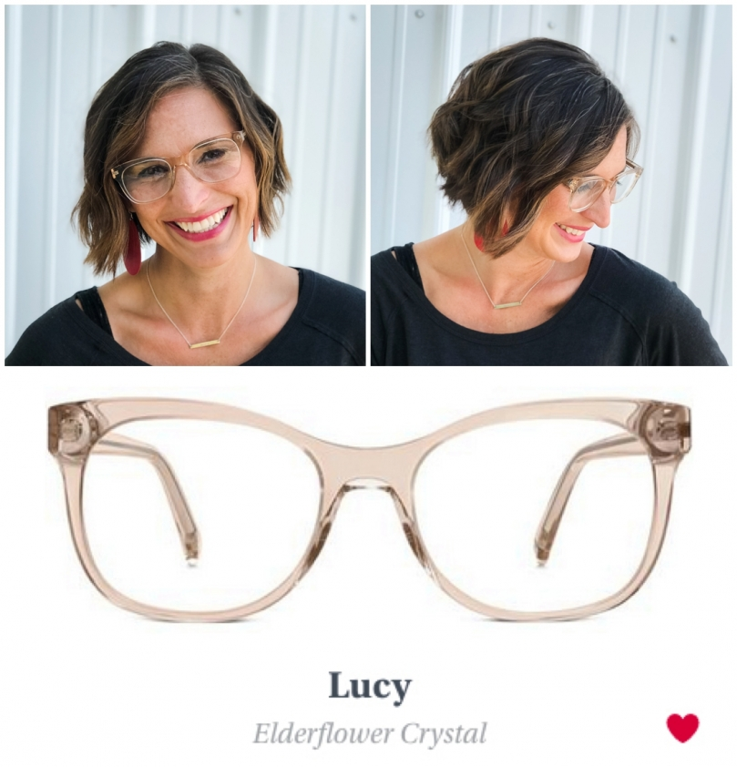 Eye Glasses Try On Lucy Crystal