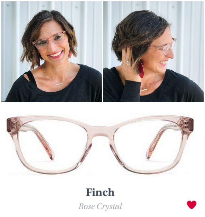 Eye Glasses Try On Finch Pink Crystal