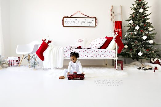 Christmas Card Mini Sessions Bed Stockings Trees Pj's Holiday