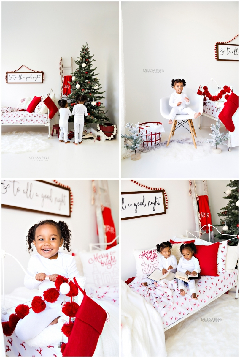 Christmas Card Mini Sessions Bed Stockings Trees Pj