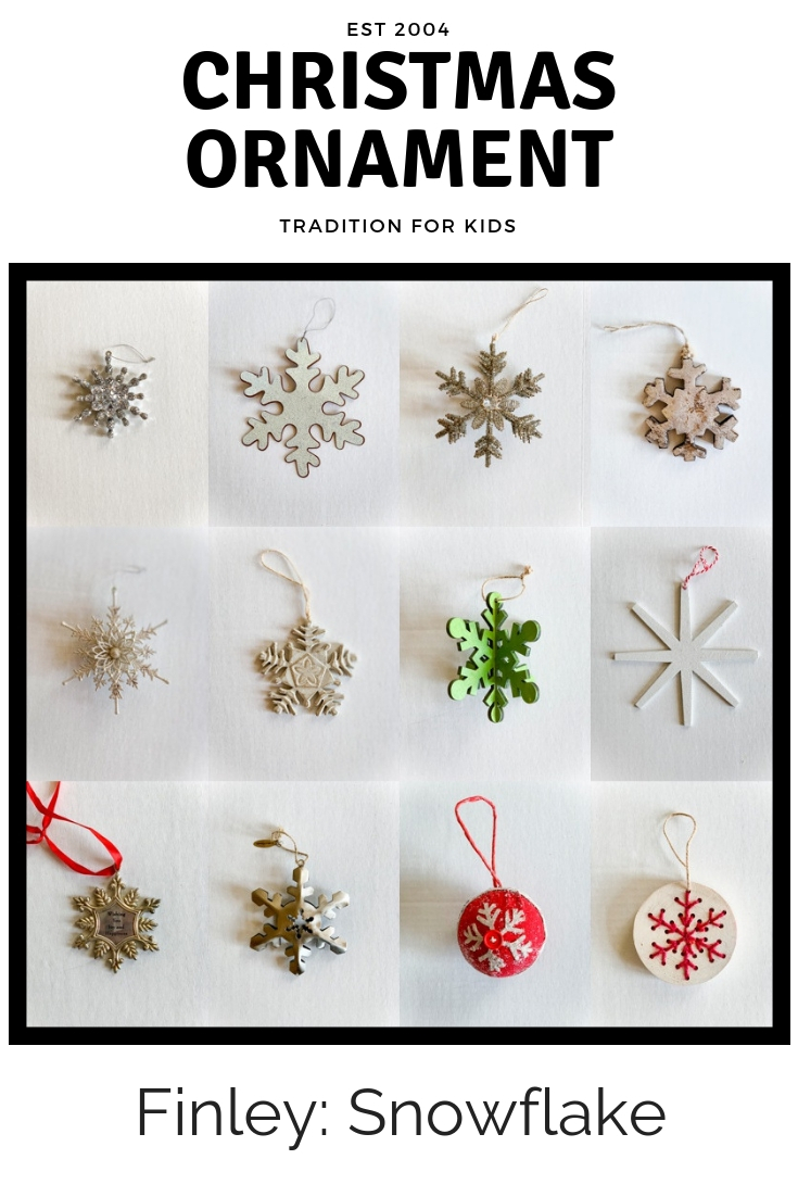 Christmas Ornament Tradition Snowflake Kids Decorate Holiday