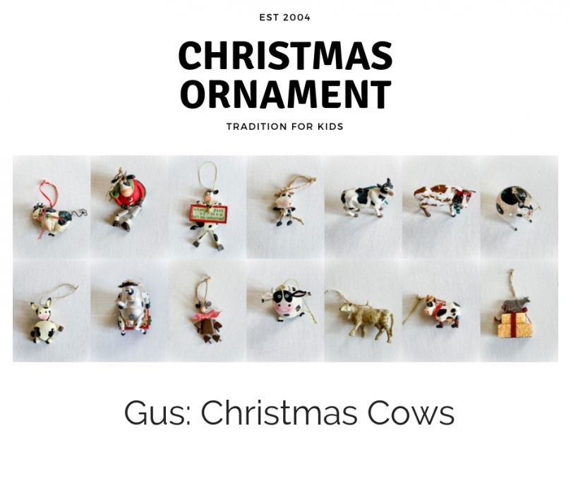 Christmas Ornament Tradition Snowflake Kids Decorate Holiday Cows